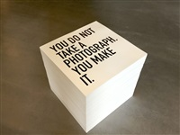 you do not take a photograph. you make it. by alfredo jaar