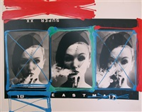 smoke + veil x 3, paris (vogue), 1958 by william klein