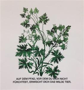 blattstaude mit feuerlilie grün by marcel odenbach