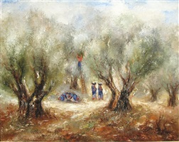 picking the olives by reuven rubin