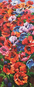 casacade of poppies by kenneth webb