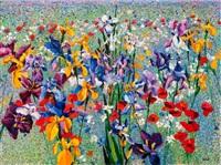 a field of wild flowers by kenneth webb