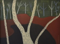birches by milton avery