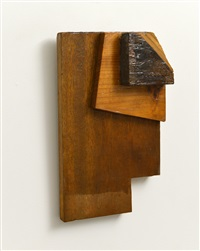 three pieces of wood by kishio suga