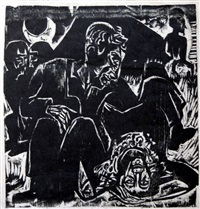bauernliebespaar (rustic lovers) by ernst ludwig kirchner
