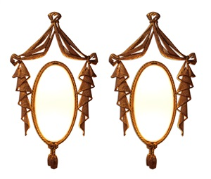 spectacular pair of textured gilt bronze sconces and white opaline oval glass by jean barat