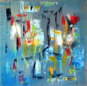 lighted blue by antonio carreno