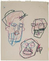 "untitled - ""thre heads"" by jean-michel basquiat"