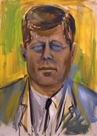 portrait of president john f. kennedy by elaine de kooning