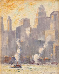 new york from brooklyn by guy carleton wiggins