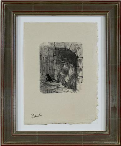 lautrec book: from au pied du sinai written by georges clemenceau (inventory #948d) by henri de toulouse-lautrec