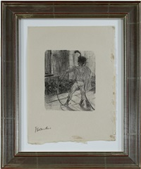 lautrec book: from au pied du sinai written by georges clemenceau (inventory #948d) by henri de toulouse-lautrec
