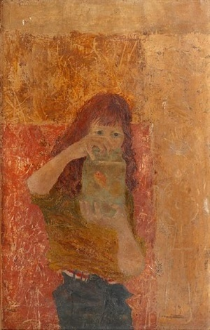 girl with goldfish by james fitton