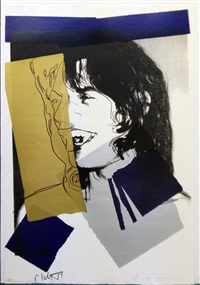 mick jagger f&s ii.142 by andy warhol
