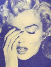 marilyn crying (crow blue) by russell young