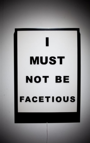 i must not be facetious by jason alper