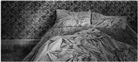 unmade bed by hans op de beeck