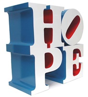 hope, white/blue/red by robert indiana