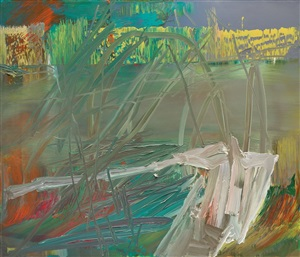 abstraktes bild ( 605-2 ) / abstract painting by gerhard richter