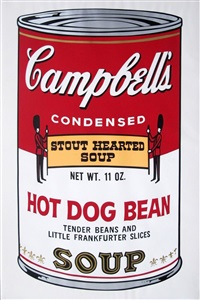 campbells soup ii: hot dog bean (fs ii.59) by andy warhol