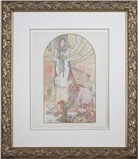incantation - l' estampe moderne (inventory #614d) by alphonse mucha