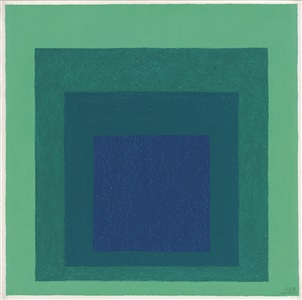 study for homage to the square reciprocal by josef albers
