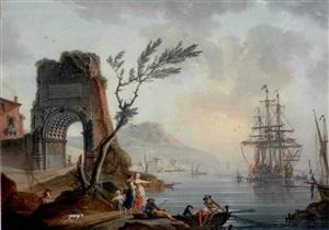 port du sud et arche de titus by charles françois lacroix