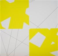 pi & plis (pi & fold), (yellow) by françois morellet