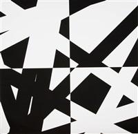 pi & plis (pi & fold), (black) by françois morellet
