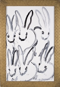 6 bunnies the group (chl1160) by hunt slonem