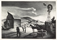 the corral by thomas hart benton