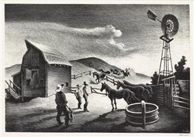 the corral by thomas hart benton