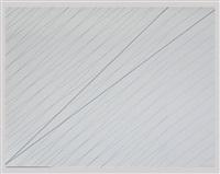 sans titre (2 trames l'une a 45° (diagonale du carre) by françois morellet