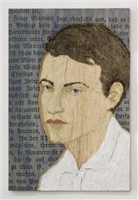 mann in weißem hemd by stephan balkenhol
