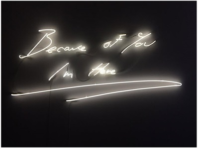 because of you im here by tracey emin