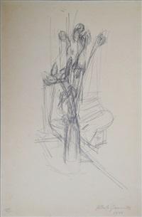fleurs dans un vase by alberto giacometti