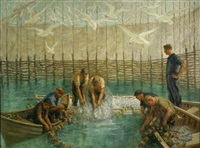 seining of the weir net by francis luis mora
