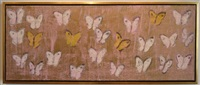 slyphs (pink butterflies) (c# cs0236) by hunt slonem