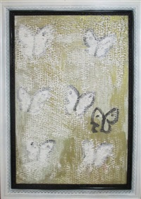 cabbage butterflies (c# cs0005) by hunt slonem