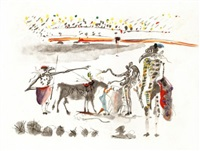 the parrots (from the tauromachie suite) by salvador dalí