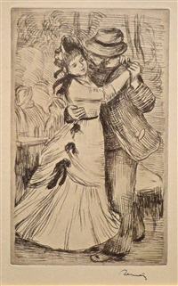 la danse à la campagne (the dance in the country) by pierre-auguste renoir