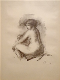 etude de femme nue, assise (study of a nude woman seated) by pierre-auguste renoir