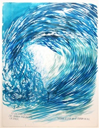 untitled (water is the best thing of all) by raymond pettibon