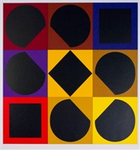 topazbr (from the portfolio lapidaire) by victor vasarely