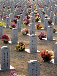 kimsooja father's grave by kimsooja