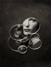 fanny with mirrors, new york city by albert watson