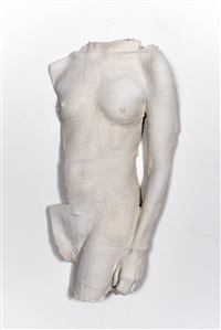 untitled (nude torso: hand at side) by george segal