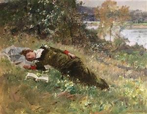 afternoon siesta by adrien moreau