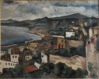 paysage le cros de cagnes by joaquín torres garcía