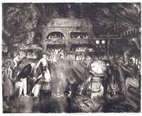 the tournament (tennis at newport) by george wesley bellows
